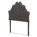 Baxton Studio Hilda Modern and Contemporary Dark Grey Fabric Twin Size Headboard - BBT6692-Dark Grey-Twin HB-H1217-20