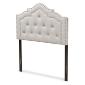 Baxton Studio Edith Modern and Contemporary Greyish Beige Fabric Twin Size Headboard Baxton Studio restaurant furniture, hotel furniture, commercial furniture, wholesale bedroom furniture, wholesale headboards, classic twin headboards