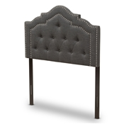 Baxton Studio Edith Modern and Contemporary Dark Grey Fabric Twin Size Headboard Baxton Studio restaurant furniture, hotel furniture, commercial furniture, wholesale bedroom furniture, wholesale headboards, classic twin headboards