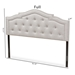 Baxton Studio Edith Modern and Contemporary Greyish Beige Fabric Queen Size Headboard - BBT6695-Greyish Beige-Queen HB-H1217-14