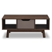 Baxton Studio Britta Mid-Century Modern Walnut Brown and Grey Two-Tone Finished Wood Coffee Table - CT 2190-01-Brown/Grey-CT