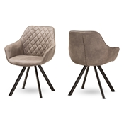 Baxton Studio Pamela Mid-Century Modern Light Brown Fabric Upholstered Dining Chair Set of 2 Baxton Studio restaurant furniture, hotel furniture, commercial furniture, wholesale dining room furniture, wholesale chair, classic fabric chairs