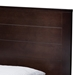 Baxton Studio Catalina Modern Classic Mission Style Dark Brown-Finished Wood Twin Platform Bed - HT1702-Espresso Brown-Twin