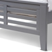 Baxton Studio Sedona Modern Classic Mission Style Grey-Finished Wood Twin Platform Bed - HT1704-Grey-Twin