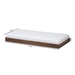Baxton Studio Payton Modern and Contemporary Brown-Finished Twin Trundle - HT-Walnut Brown-Trundle