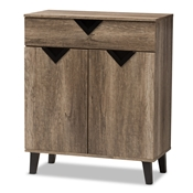 Baxton Studio Wales Modern and Contemporary Light Brown Wood Shoe Storage Cabinet Baxton Studio restaurant furniture, hotel furniture, commercial furniture, wholesale foyer furniture, classic foyer furniture
