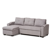 Baxton Studio Lianna Modern and Contemporary Light Grey Fabric Upholstered Sectional Sofa Baxton Studio restaurant furniture, hotel furniture, commercial furniture, wholesale living room furniture, wholesale sofas and loveseats, classic sectional sofas