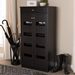 Baxton Studio Acadia Modern and Contemporary Wenge Brown Finished Shoe Cabinet - MH27202-Wenge-Shoe Rack
