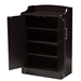 Baxton Studio Verdell Modern and Contemporary Wenge Brown Finished Shoe Cabinet - MH7006-Wenge-Shoe Rack