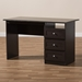 Baxton Studio Carine Modern and Contemporary Wenge Brown Finished Desk - MH6013-Wenge-Desk