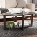 Baxton Studio Jacintha Modern and Contemporary Wenge Brown Finished Coffee Table - MH2106-Wenge-CT