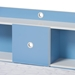 Baxton Studio Aeluin Contemporary Children's Blue and White Finished Platform Bed - MHSBB2-Blue/White-Bed