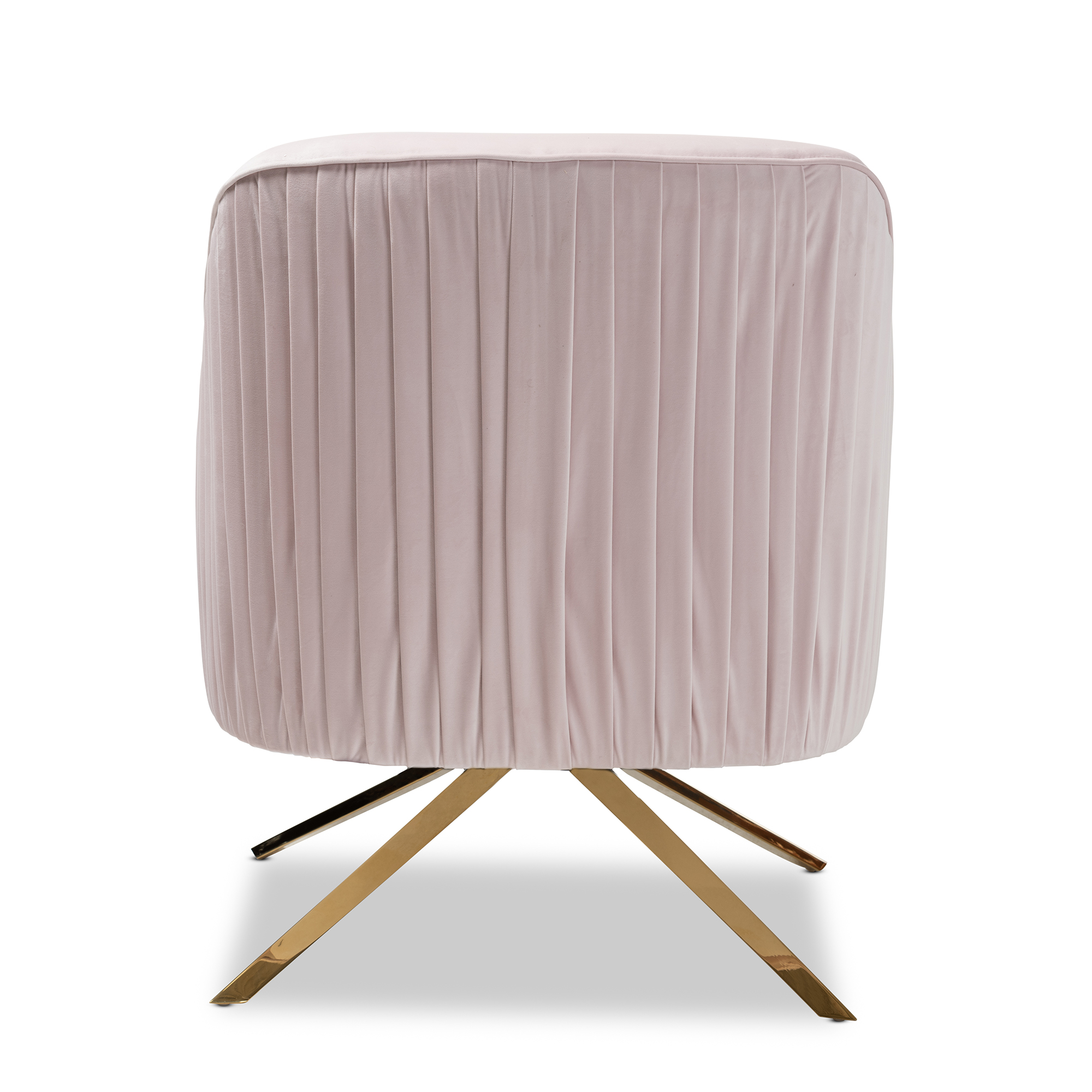 ... Baxton Studio Amaya Luxe And Glamour Light Pink Velvet Fabric  Upholstered Gold Finished Base Lounge Chair ...