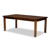 Baxton Studio Megan Modern and Contemporary Walnut Brown Finished Extendable Dining Table Baxton Studio restaurant furniture, hotel furniture, commercial furniture, wholesale dining furniture, wholesale table, classic dining tables