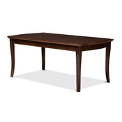 Baxton Studio Riverside Modern and Contemporary Walnut Brown Finished Extendable Dining Table Baxton Studio restaurant furniture, hotel furniture, commercial furniture, wholesale dining furniture, wholesale table, classic dining tables