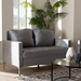 Baxton Studio Clara Modern and Contemporary Grey Velvet Fabric Upholstered 2-Seater Loveseat - Clara-Grey-LS