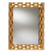 Baxton Studio Arpina Modern and Contemporary Antique Gold Finished Rectangular Accent Wall Mirror Baxton Studio restaurant furniture, hotel furniture, commercial furniture, wholesale living room furniture, wholesale mirror, classic mirrors