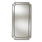 Baxton Studio Romina Art Deco Antique Silver Finished Accent Wall Mirror Baxton Studio restaurant furniture, hotel furniture, commercial furniture, wholesale living room furniture, wholesale mirror, classic mirrors