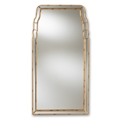 Baxton Studio Alice Modern and Contemporary Queen Anne Style Antique Gold Finished Accent Wall Mirror Baxton Studio restaurant furniture, hotel furniture, commercial furniture, wholesale living room furniture, wholesale mirror, classic mirrors