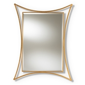 Baxton Studio Melia Modern and Contemporary Antique Gold Finished Rectangular Accent Wall Mirror Baxton Studio restaurant furniture, hotel furniture, commercial furniture, wholesale living room furniture, wholesale mirror, classic mirrors