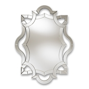 Baxton Studio Colina Modern and Contemporary Silver Finished Accent Wall Mirror Baxton Studio restaurant furniture, hotel furniture, commercial furniture, wholesale living room furniture, wholesale mirror, classic mirrors