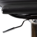 Baxton Studio Vanni Modern and Contemporary Black Faux Leather Upholstered Chrome-Finished Metal Adjustable Swivel Bar Stool - T-1230-Black-BS