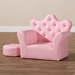 Baxton Studio Ava Modern and Contemporary Pink Faux Leather 2-Piece Kids Armchair and Footrest Set - LD2210-Pink-CC