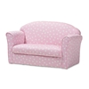 Baxton Studio Erica Modern and Contemporary Pink and White Heart Patterned Fabric Upholstered Kids 2-Seater Sofa Baxton Studio restaurant furniture, hotel furniture, commercial furniture, wholesale living room furniture, wholesale kids chairs, classic kids chairs