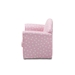 Baxton Studio Erica Modern and Contemporary Pink and White Heart Patterned Fabric Upholstered Kids 2-Seater Sofa - LD20832-Pink-SF