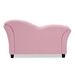 Baxton Studio Felice Modern and Contemporary Pink Faux Leather Kids 2-Seater Loveseat - LD2192-Pink-LS