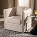 Baxton Studio Micah Modern and Contemporary Beige Fabric Upholstered Tufted Swivel Chair - TSF7718-Beige-CC