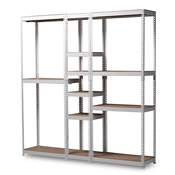Baxton Studio Gavin Modern and Contemporary White Metal 10-Shelf Closet Storage Racking Organizer Baxton Studio restaurant furniture, hotel furniture, commercial furniture, wholesale living room furniture, wholesale shelf, classic shelves