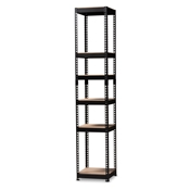 Baxton Studio Gavin Modern and Contemporary Black Metal 5-Shelf Closet Storage Racking Organizer Baxton Studio restaurant furniture, hotel furniture, commercial furniture, wholesale living room furniture, wholesale shelf, classic shelves