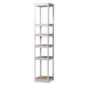 Baxton Studio Gavin Modern and Contemporary White Metal 5-Shelf Closet Storage Racking Organizer Baxton Studio restaurant furniture, hotel furniture, commercial furniture, wholesale living room furniture, wholesale shelf, classic shelves