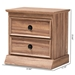 Baxton Studio Ryker Modern and Contemporary Oak Finished 2-Drawer Wood Nightstand - FP-1804-4013