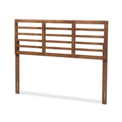 Baxton Studio Salome Mid-Century Modern Walnut Brown Finished Wood Full Size Open Slat Headboard Baxton Studio restaurant furniture, hotel furniture, commercial furniture, wholesale bedroom furniture, wholesale full, classic full