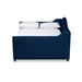 Baxton Studio Perry Modern and Contemporary Navy Blue Velvet Fabric Upholstered and Button Tufted Full Size Daybed - CF8940-Navy Blue-Daybed-F