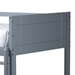 Baxton Studio Elsie Modern and Contemporary Grey Finished Wood Twin Size Bunk Bed - MG0051-Grey-Twin Bunk Bed