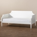 Baxton Studio Mariana Classic and Traditional White Finished Wood Twin Size Daybed - Mariana-White-Daybed