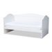 Baxton Studio Neves Cottage Farmhouse White Finished Wood Twin Size Daybed - Neves-White-Daybed