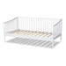 Baxton Studio Renata Classic and Traditional White Finished Wood Twin Size Spindle Daybed - Renata-White-Daybed
