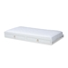 Baxton Studio Mariana Classic and Traditional White Finished Wood Twin Size Trundle - Mariana-White-Trundle