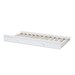 Baxton Studio Neves Cottage Farmhouse White Finished Wood Twin Size Trundle - Neves-White-Trundle