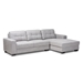 Baxton Studio Langley Modern and Contemporary Light Grey Fabric Upholstered Sectional Sofa with Right Facing Chaise - J099C-Light Grey-RFC