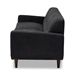 Baxton Studio Allister Mid-Century Modern Dark Grey Fabric Upholstered Sofa - J1453-Dark Grey-SF