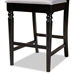 Baxton Studio Arden Modern and Contemporary Grey Fabric Upholstered Espresso Brown Finished Wood Counter Stool (Set of 2) - RH322P-Grey/Dark Brown-PS