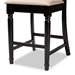 Baxton Studio Verina Modern and Contemporary Sand Fabric Upholstered Espresso Brown Finished Wood Counter Stool (Set of 2) - RH323P-Sand/Dark Brown-PS