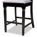Baxton Studio Verina Modern and Contemporary Grey Fabric Upholstered Espresso Brown Finished Wood Counter Stool (Set of 2) - RH323P-Grey/Dark Brown-PS