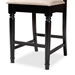 Baxton Studio Darcie Modern and Contemporary Sand Fabric Upholstered Espresso Brown Finished Wood Counter Stool (Set of 2) - RH324P-Sand/Dark Brown-PS