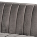Baxton Studio Aveline Glam and Luxe Grey Velvet Fabric Upholstered Brushed Gold Finished Sofa - TSF-BAX66113-Grey/Gold-SF